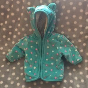 ❤️2 for 12❤️ Healthtex 0-3M Sherpa lined jacket